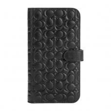 Coach Leather Folio Case for iPhone 12 Pro Max - Signature C Deboss Black