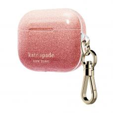 Kate Spade New York for AirPods Pro - Ombre Glitter Sunset/Pink Multi/Gold Foil Logo