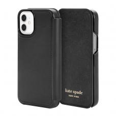 Kate Spade New York for iPhone 12 mini - Black Crumbs/Clover Hearts Printed Pattern/Gold Sticker Logo