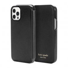 Kate Spade New York for iPhone 12 & 12 Pro - Black Crumbs/Black PC/Gold Sticker Logo