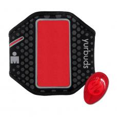 Yurbuds iPhone 5 Ergosport LED Armband Black/Red (YBIMARMB02BNR)